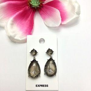Express Gray Rhinestone Drop Earrings.🌹